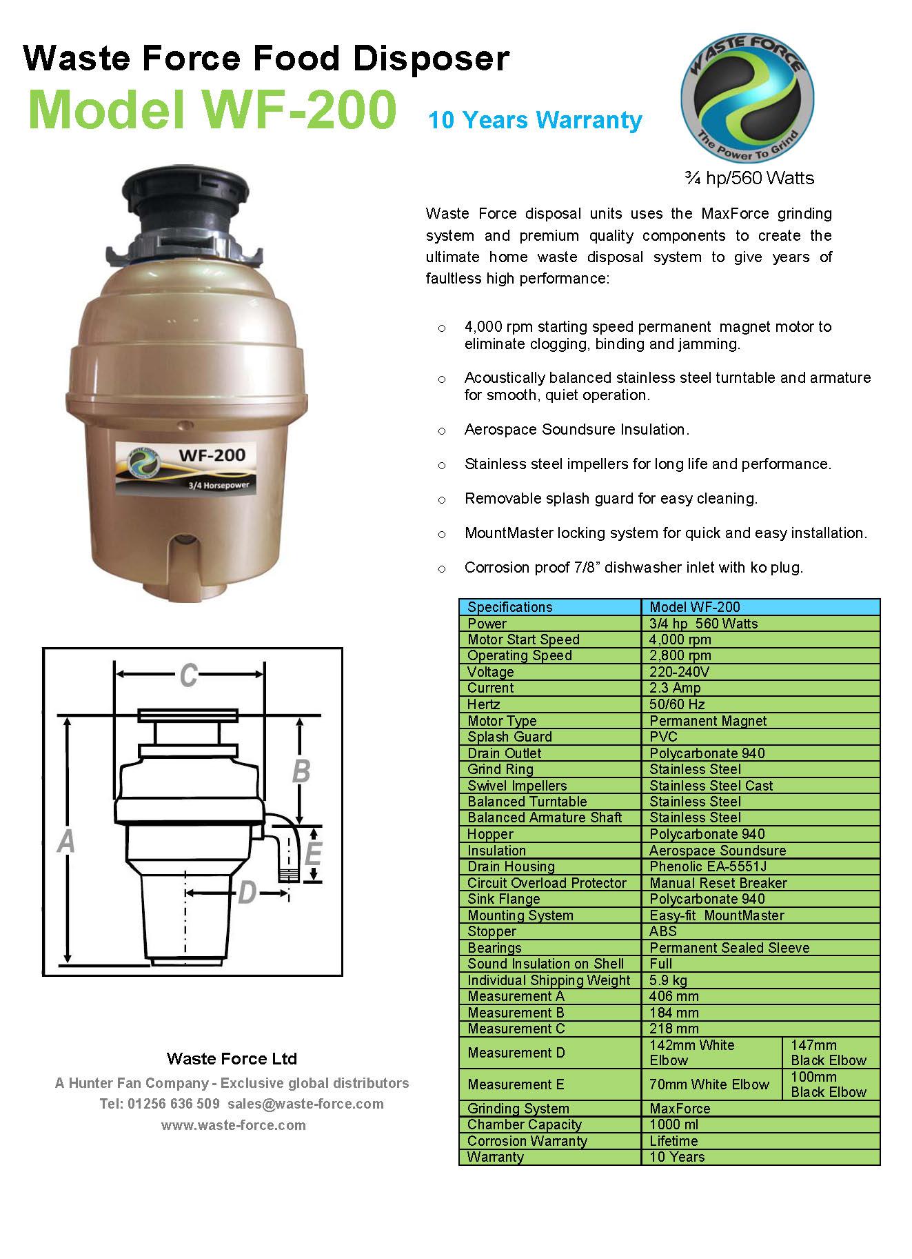 WF-200 Data Sheet v1