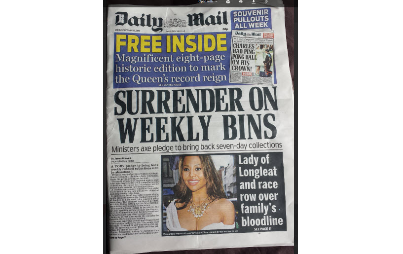 Get Yourself A Daily Bin Collection!